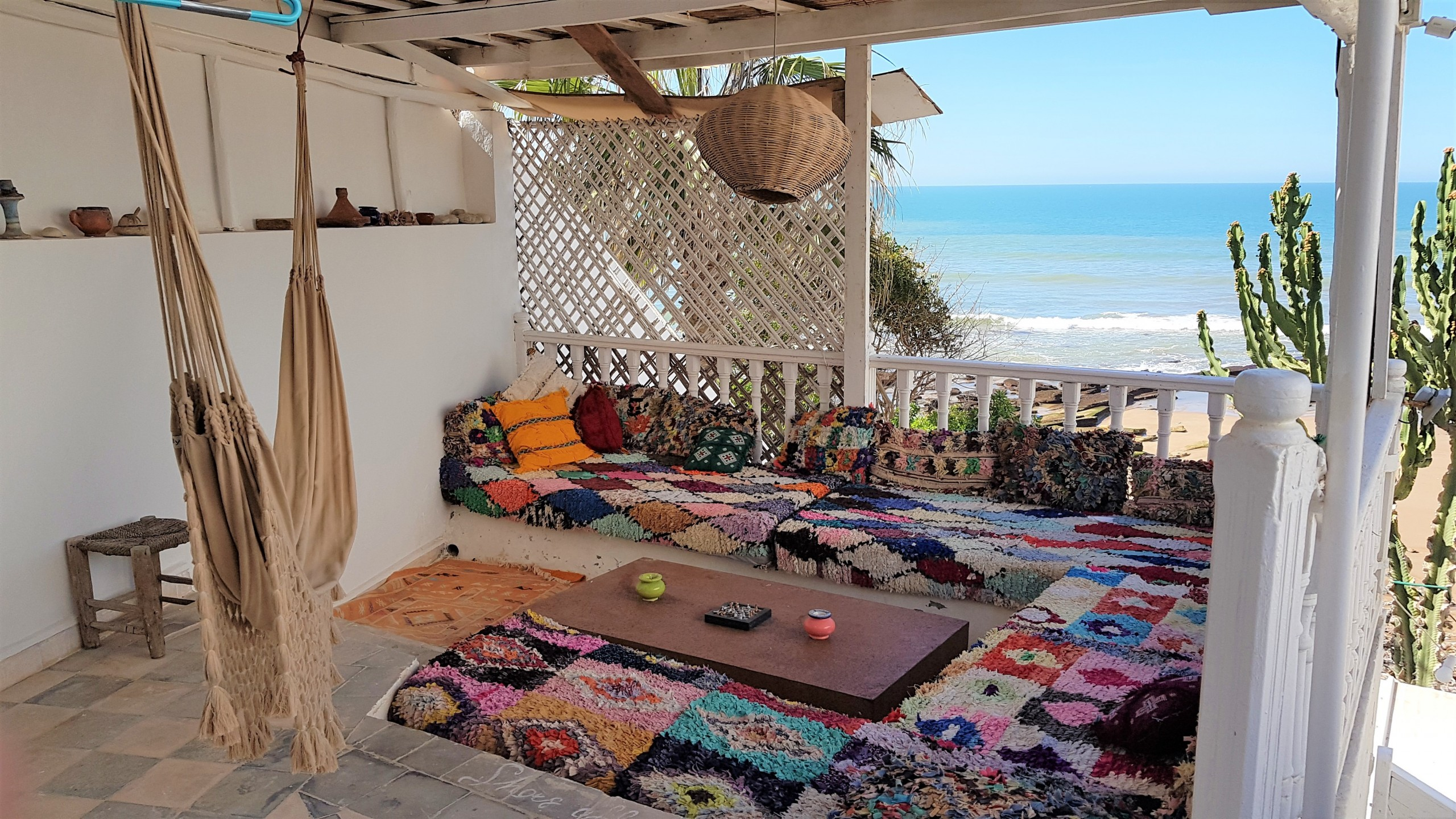 upper deck - taghazout villa - surf maroc