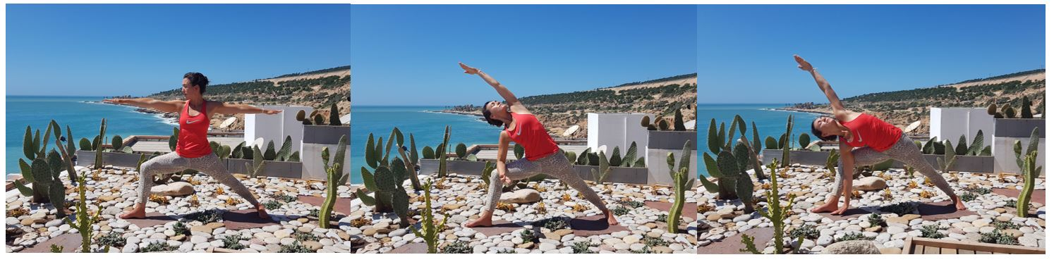 Warrior pose - yoga for surfers - surf maroc